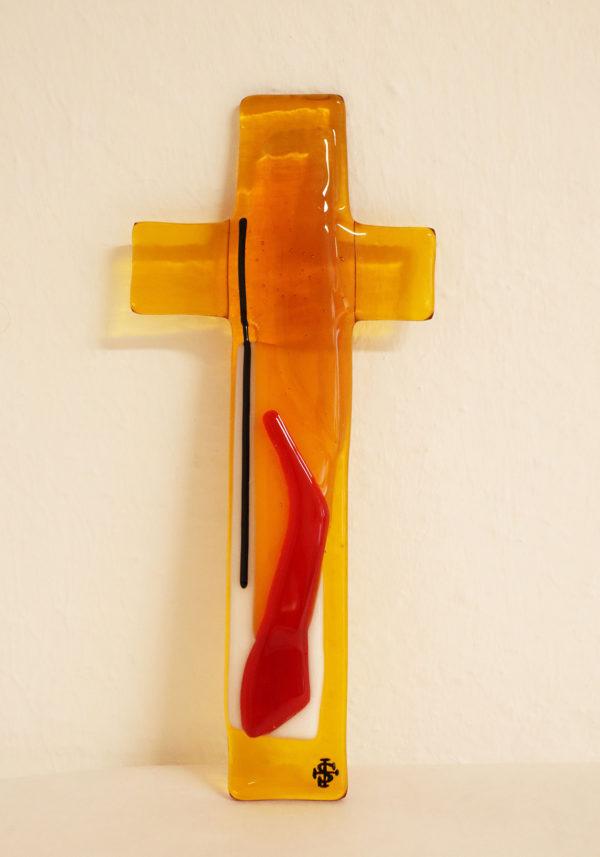 """Glasmalerei - Fusing Cross """"Yellow"""""""