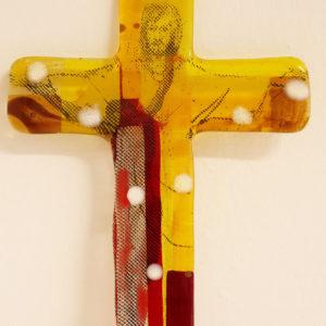 "Glasmalerei - Fusing Cross ""Jesus"""