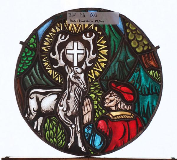 Glasmalerei Bleiverglasung Hirsch