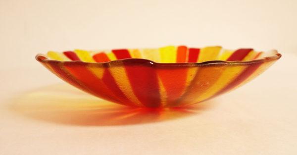 "Glasmalerei - Fusing bowl ""Yellow"" Side"