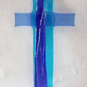 Glasmalerei Fusingkreuz Blau2