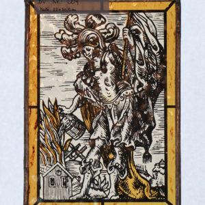 Glasmalerei Bleiverglasung Hl. Florian