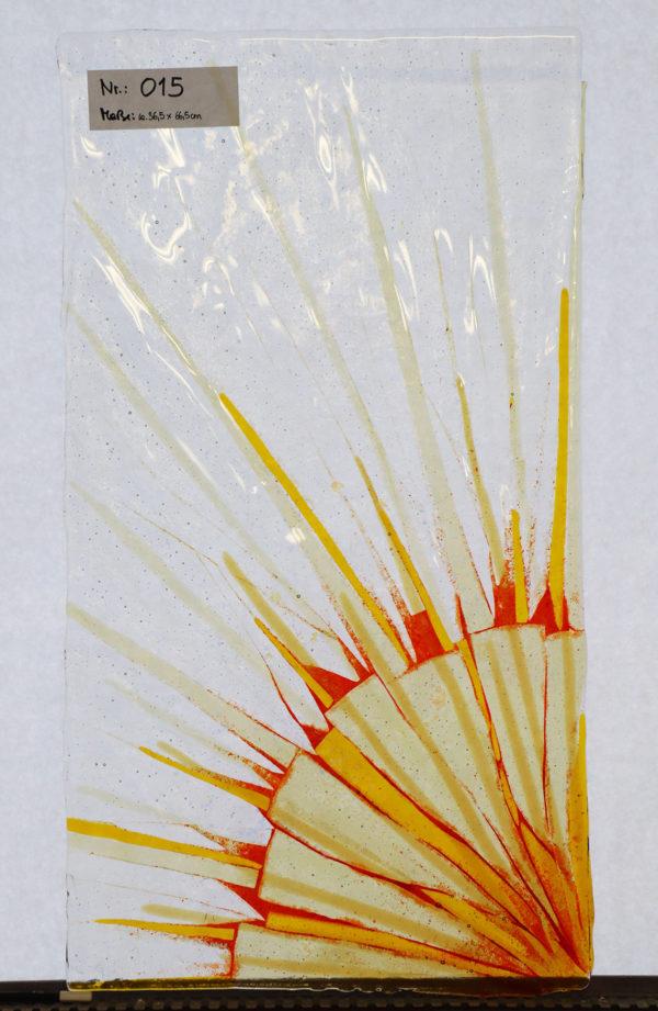 "Glasmalerei - Furniture glazing - Fused glass ""Sun"""