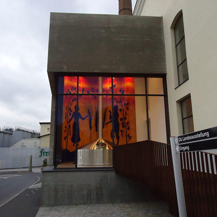 Brauerei Freistadt gebogene Glaswand 2