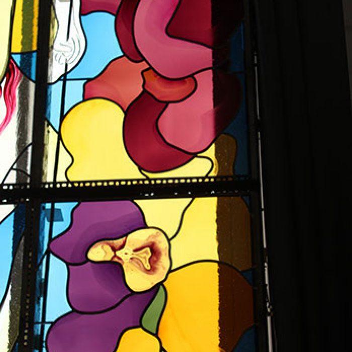 Bleiverglasung mit Echtantikgläsern, Stadtpfarrkirche Schwanenstadt 3