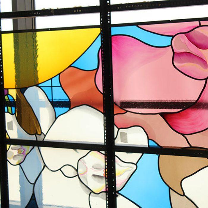 Bleiverglasung mit Echtantikgläsern, Stadtpfarrkirche Schwanenstadt 2