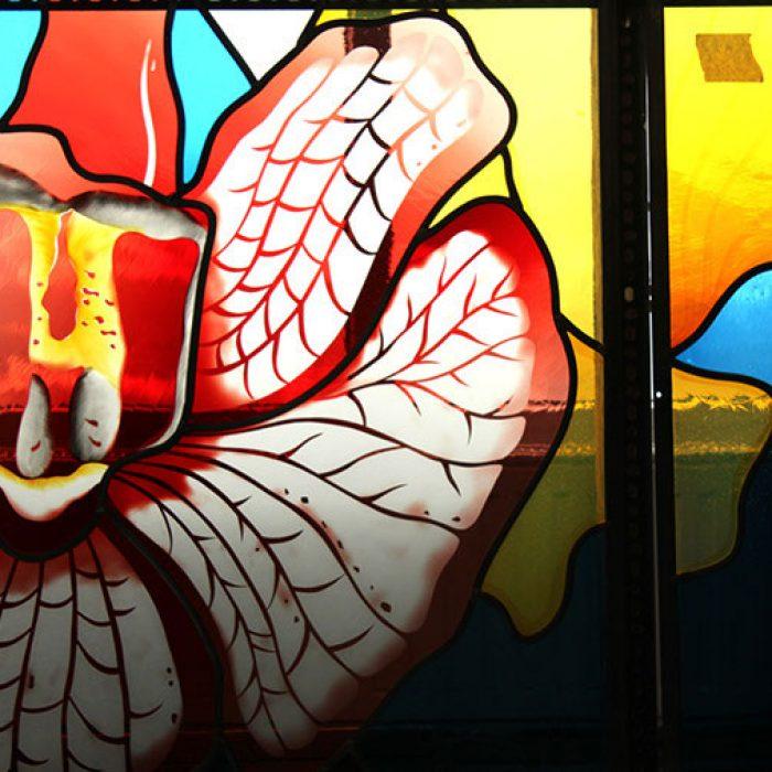 Bleiverglasung mit Echtantikgläsern, Stadtpfarrkirche Schwanenstadt 1