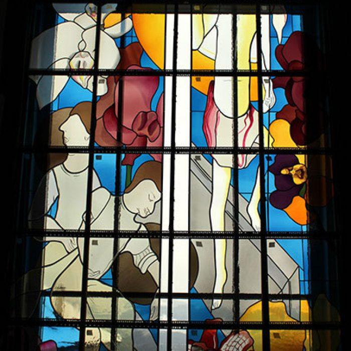 Bleiverglasung mit Echtantikgläsern, Stadtpfarrkirche Schwanenstadt 4